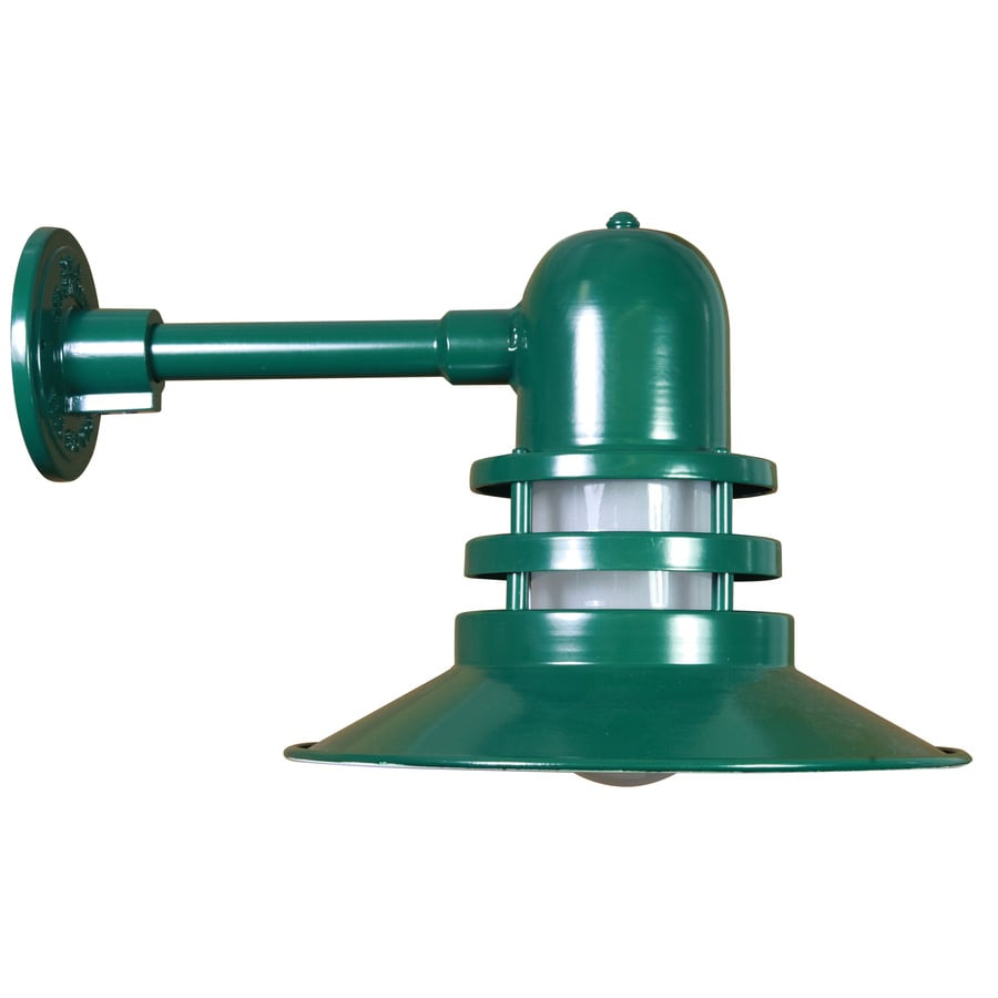Brooster 17-in W 1-Light Green Arm Hardwired Wall Sconce