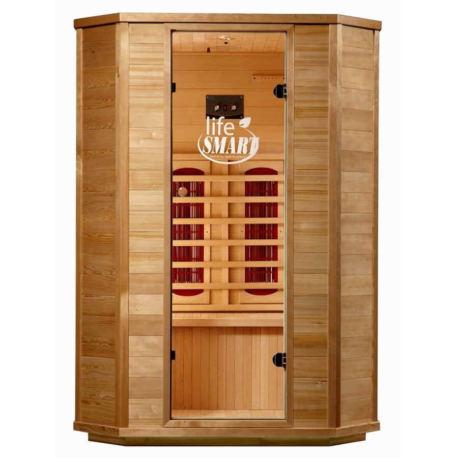 LifeSmart 74-in H x 53-1/2-in W x 47-1/4-in D Hemlock Fir Wood Indoor Sauna
