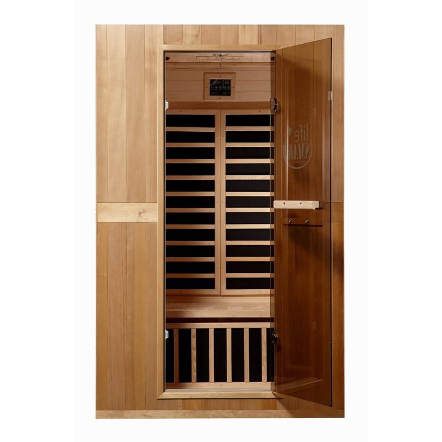 LifeSmart 74-3/4-in H x 47-1/4-in W x 39-1/2-in D Hemlock Fir Wood Indoor Sauna