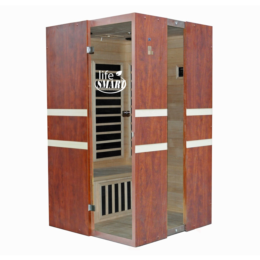 LifeSmart 74.8-in H x 44-in W x 44-in D Hemlock Fir Wood Indoor Sauna