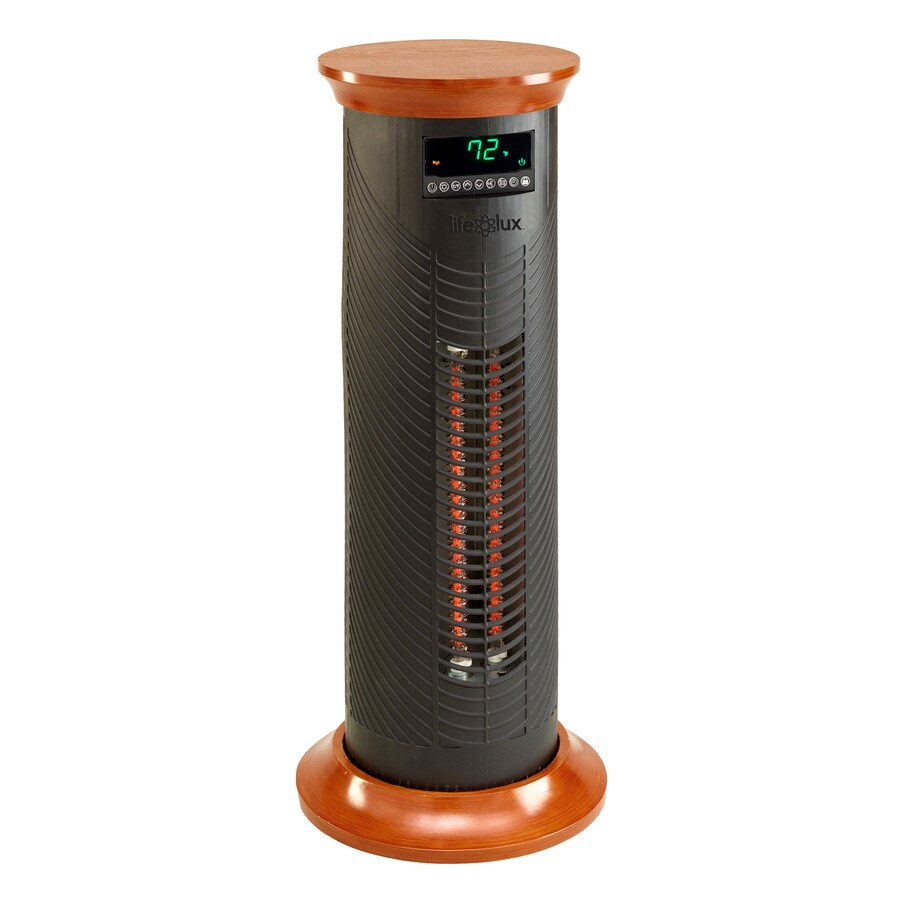 Shop lifesmart 5 100 btu infrared tower electric space for Electric radiant heat efficiency