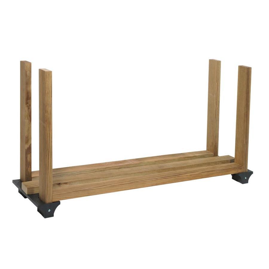 2x4basics Black Polyresin Firewood Rack Brackets
