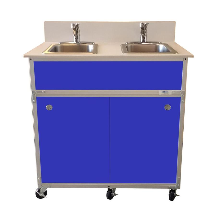 Portable Kitchen Sink : ... MONSAM White Double-Basin Stainless Steel Portable Sink at Lowes.com