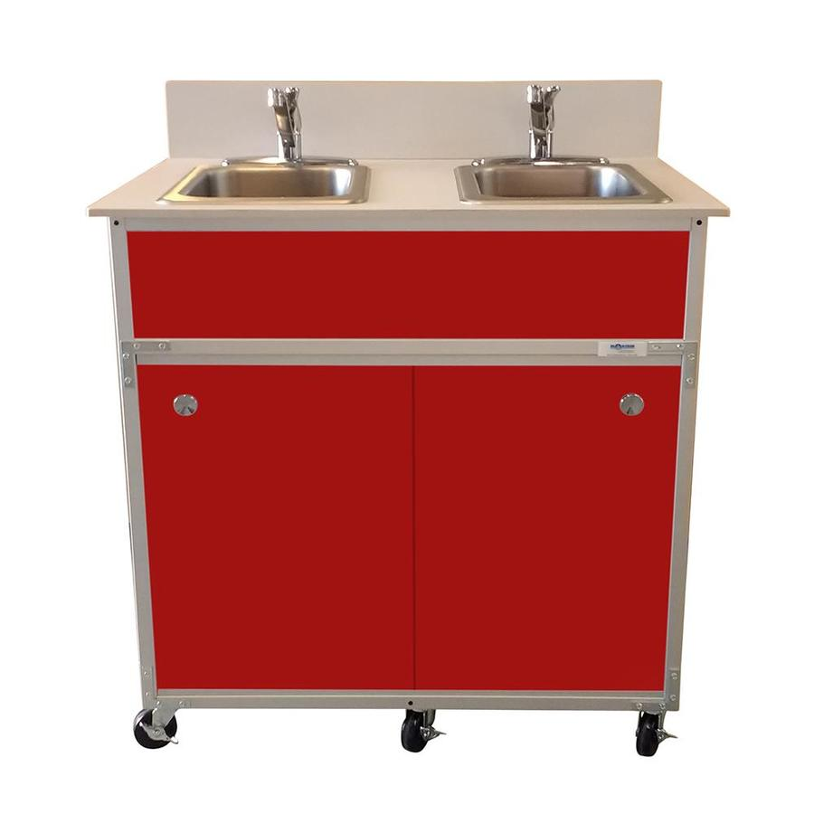 Portable Stainless Steel Sink : ... MONSAM Red Double-Basin Stainless Steel Portable Sink at Lowes.com