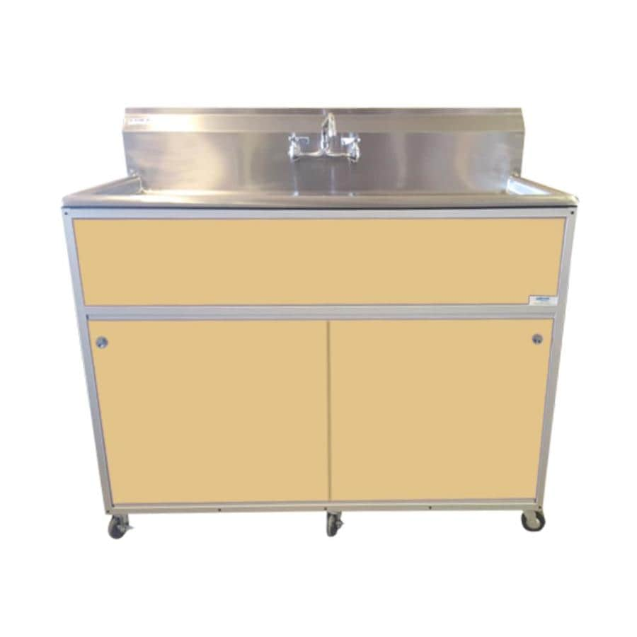 MONSAM Brown Single-Basin Stainless Steel Portable Sink