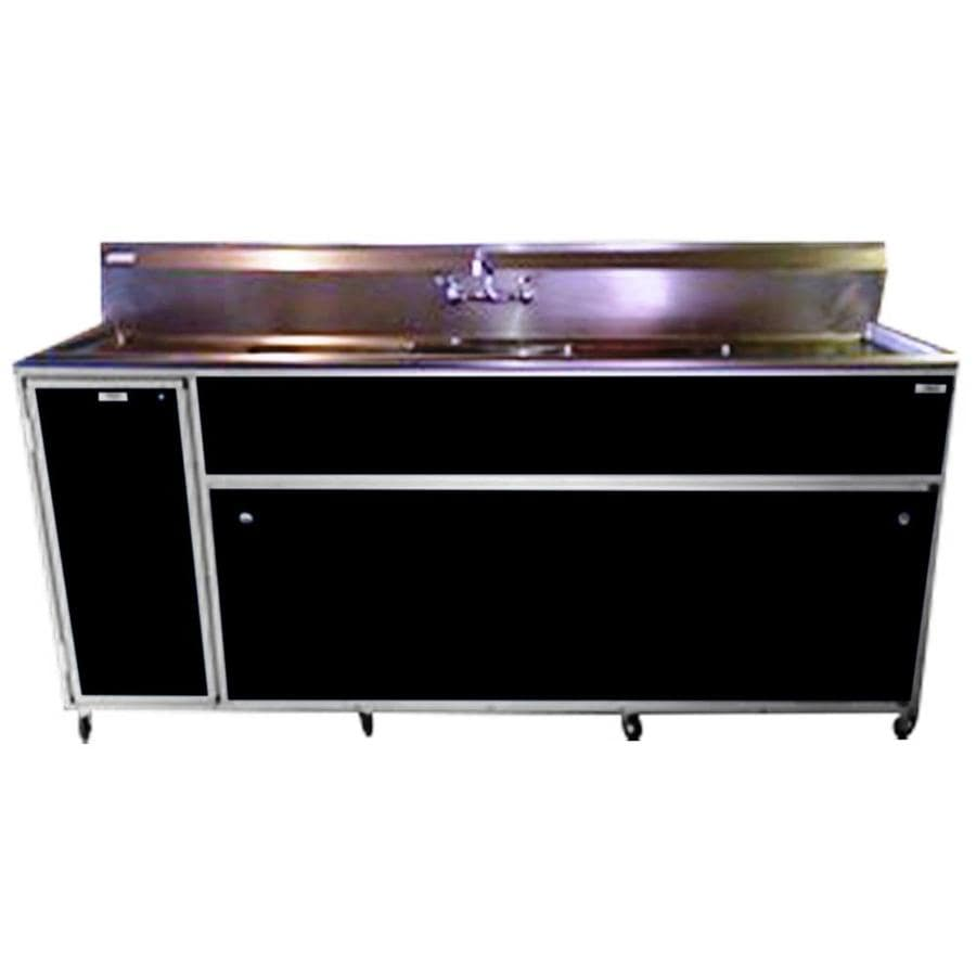 Triple Stainless Steel Sink : ... MONSAM Black Triple-Basin Stainless Steel Portable Sink at Lowes.com