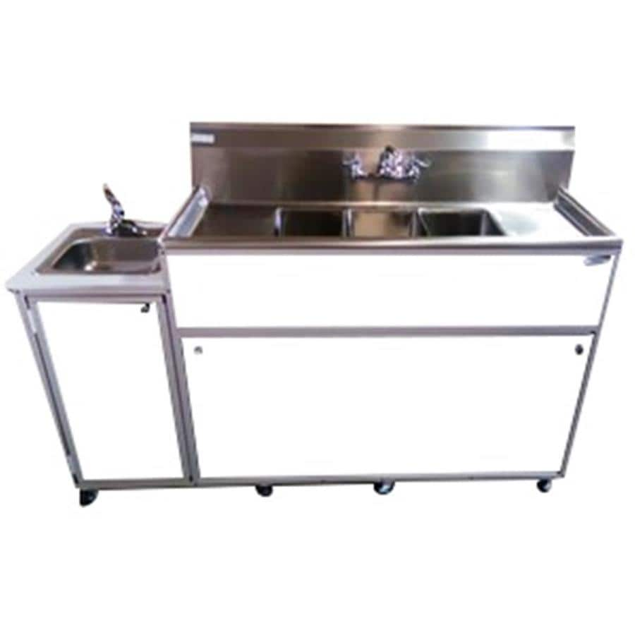 Portable Stainless Steel Sink : ... White Quadruple-Basin Stainless Steel Portable Sink at Lowes.com