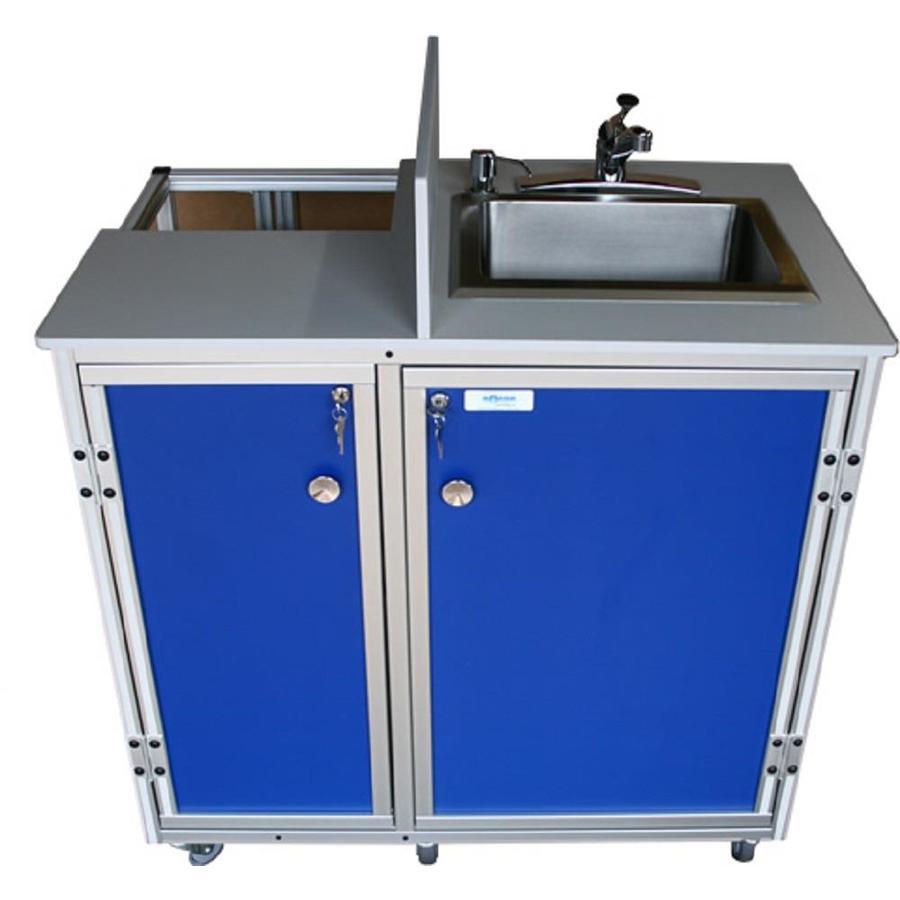 MONSAM Blue Single-Basin Stainless Steel Portable Sink