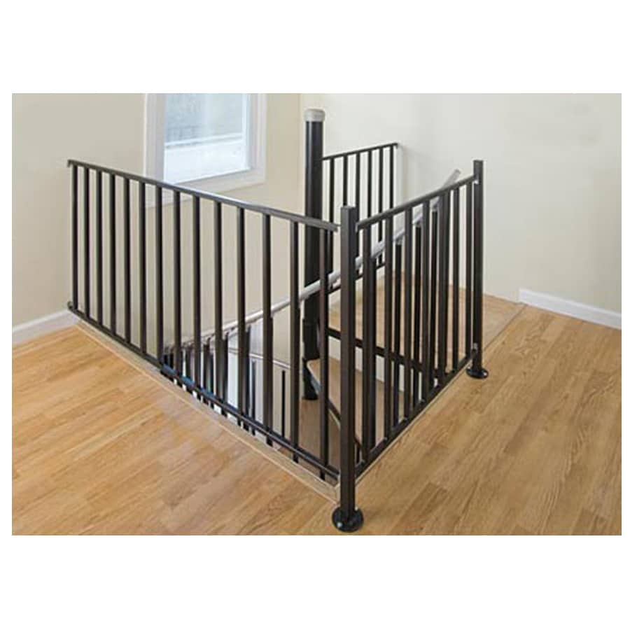 Shop The Iron Shop Ontario 3 Ft Gray Painted Wrought Iron Stair Railing Kit At