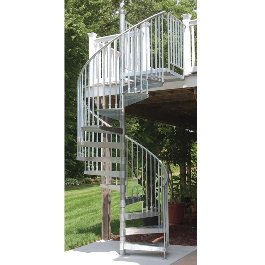 Shop the iron shop venice 60 in x galvanized - Exterior metal spiral staircase cost ...