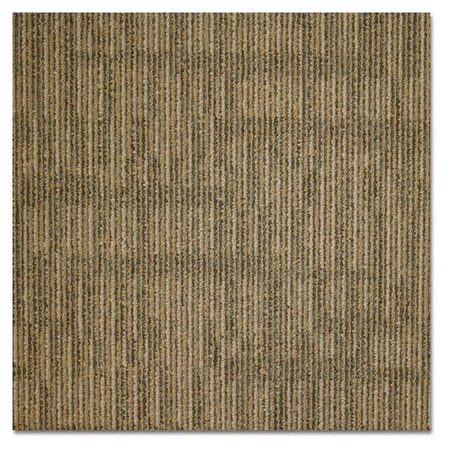 Kraus 20-Pack 19.625-in x 19.625-in Gold Rush Textured Glue-Down Carpet Tile