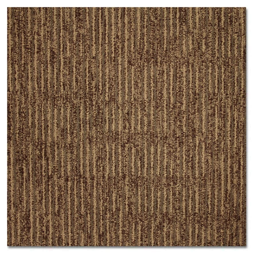 Shop Kraus 20-Pack 19.625-in x 19.625-in Aged Leather Textured Glue-Down Carpet Tile at Lowes.com