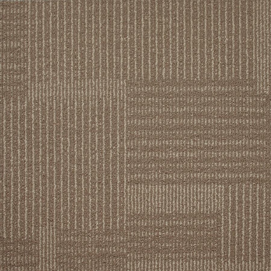 Kraus 20-Pack 19.7-in x 19.7-in Stone Beige Textured Glue-Down Carpet Tile
