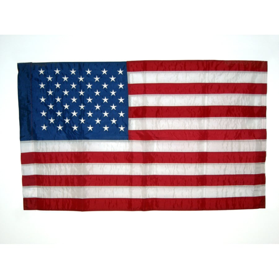 Independence Flag 4-ft W x 2.5-ft H American Embroidered Flag