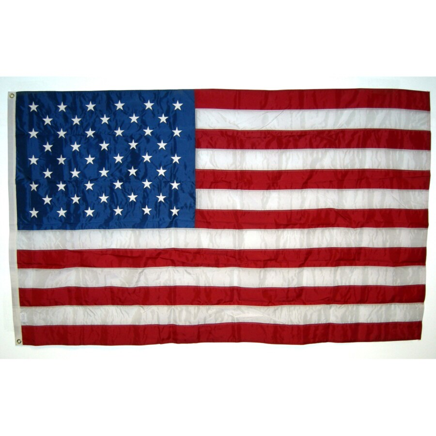 Independence Flag 6-ft W x 4-ft H American Embroidered Flag