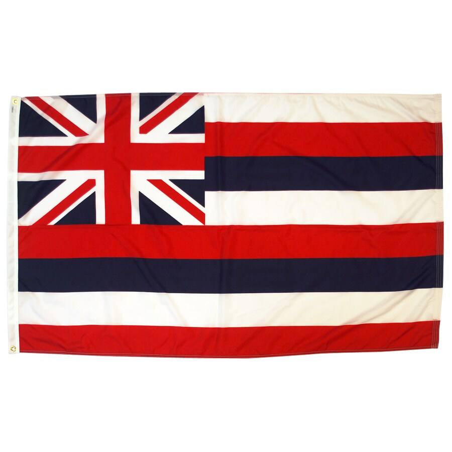 5-ft W x 3-ft H State Hawaii State Flag