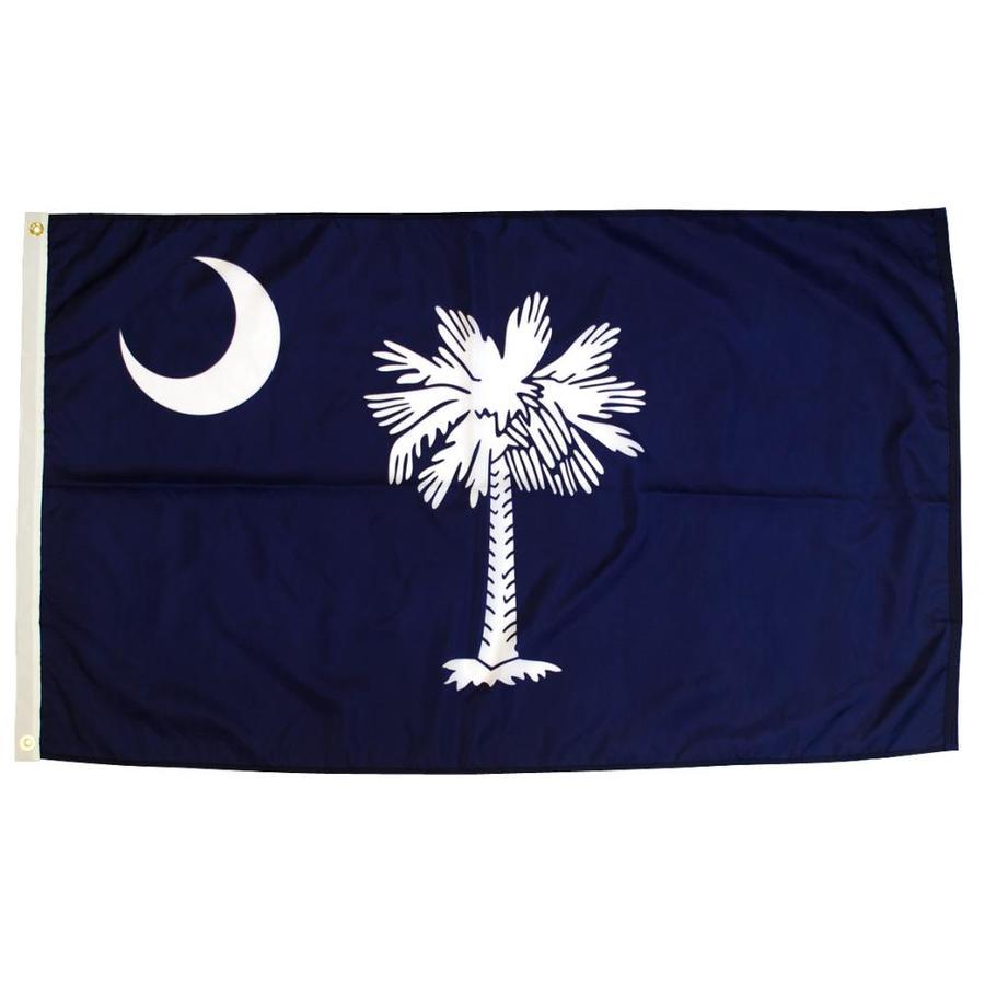 5-ft W x 3-ft H State South Carolina State Flag
