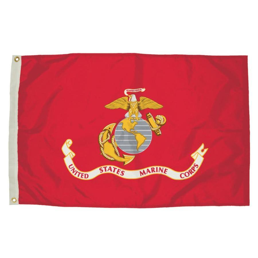 5-ft W x 3-ft H Marine Corps House Flag