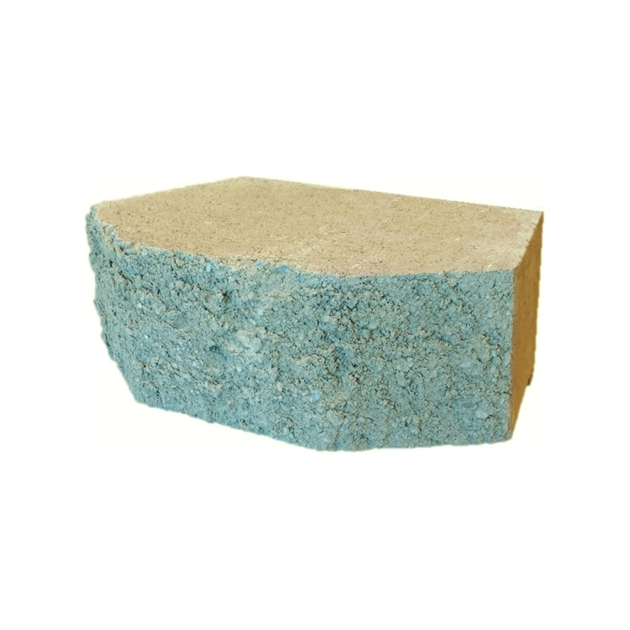 Tan Beveled Concrete Retaining Wall Block (Common: 12-in x 4-in; Actual: 11.5-in x 4-in)