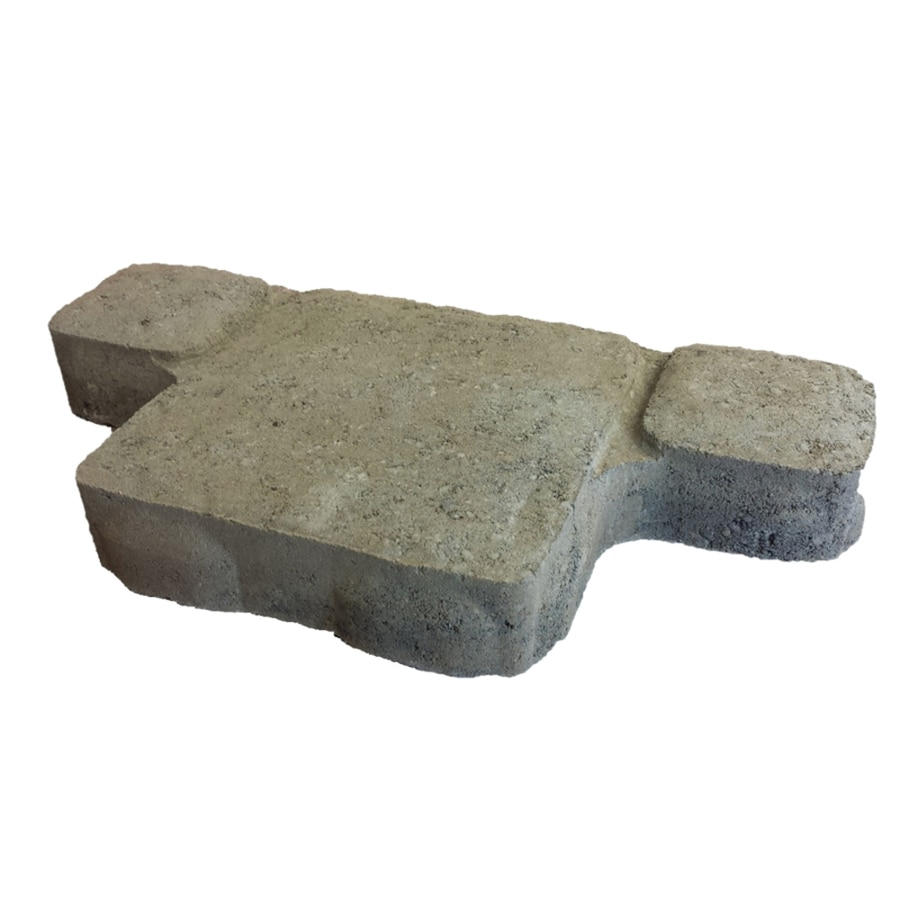 Grey/Charcoal Concrete Paver (Common: 8-in x 16-in; Actual: 8-in x 16-in)