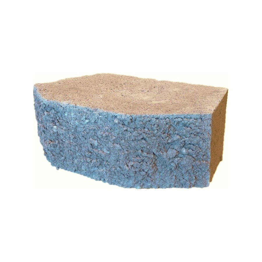 Walnut Beveled Concrete Retaining Wall Block (Common: 12-in x 4-in; Actual: 11.5-in x 4-in)