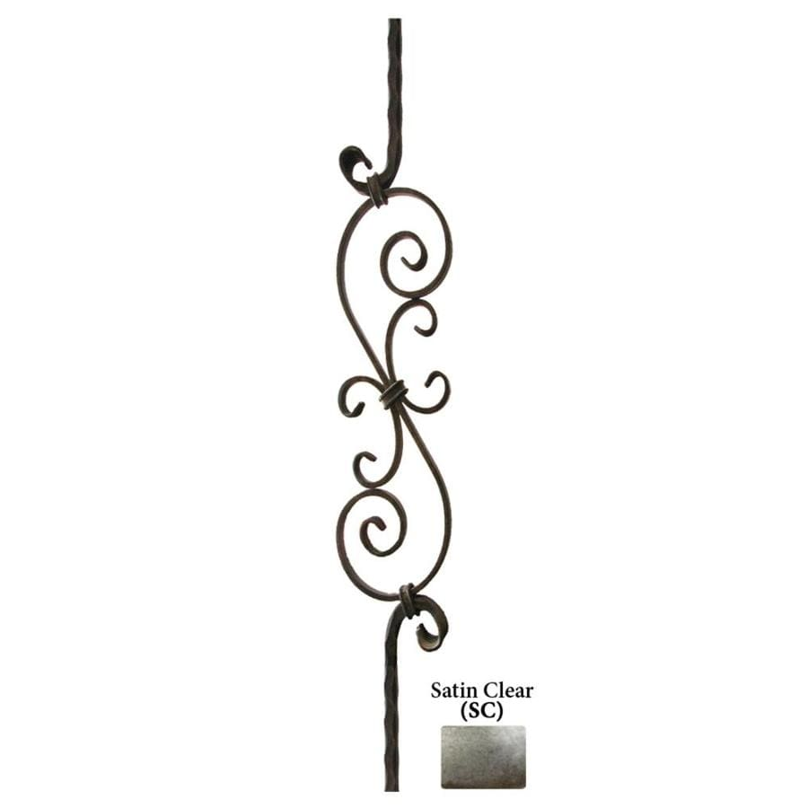 House of Forgings Solid 44-in Satin Clear Wrought Iron Tuscan Stair Baluster