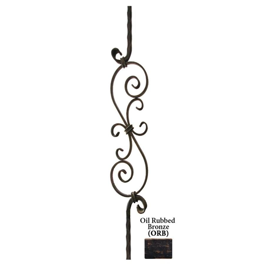 House of Forgings Solid 44-in Oil Rubbed Bronze Wrought Iron Tuscan Stair Baluster
