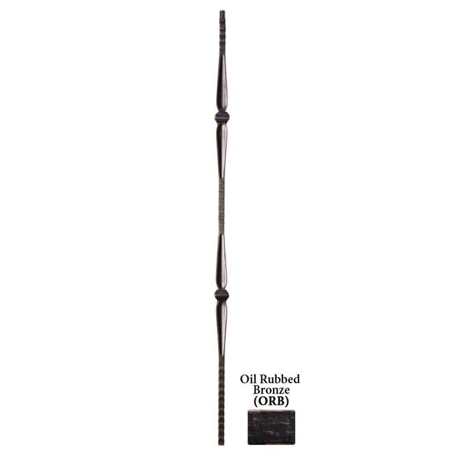 House of Forgings Solid 44-in Oil Rubbed Bronze Wrought Iron Gothic Stair Baluster