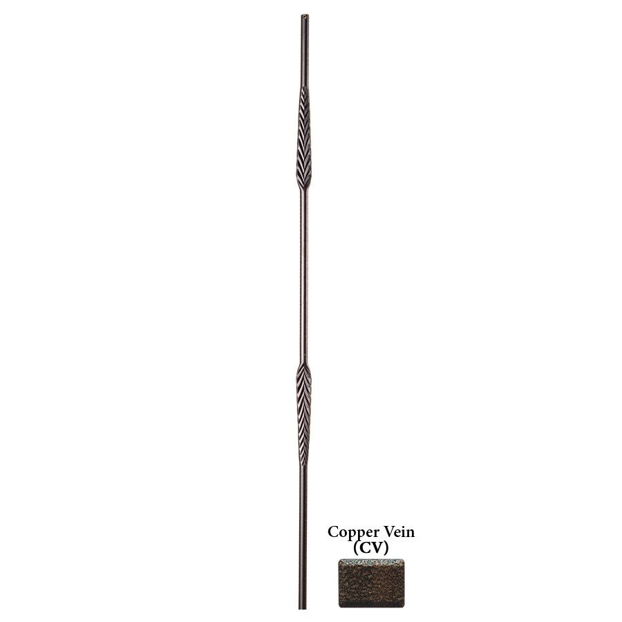 House of Forgings Solid 44-in Copper Vein Wrought Iron Round Stair Baluster