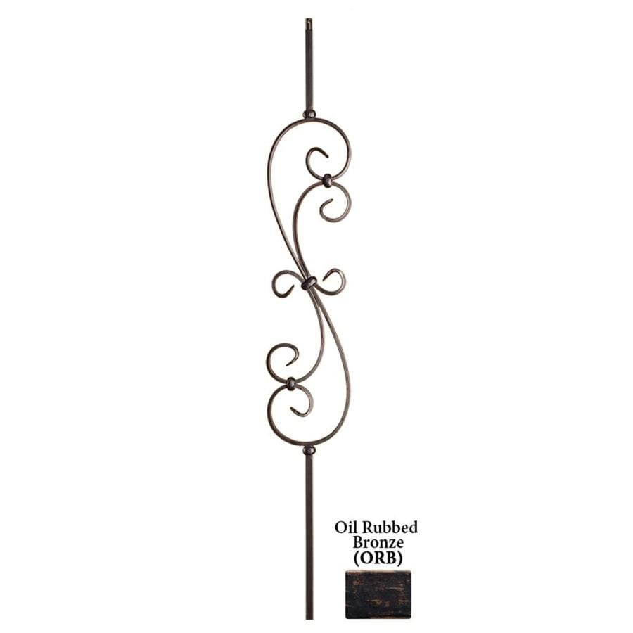 House of Forgings Solid 44-in Oil Rubbed Bronze Wrought Iron Scroll Stair Baluster