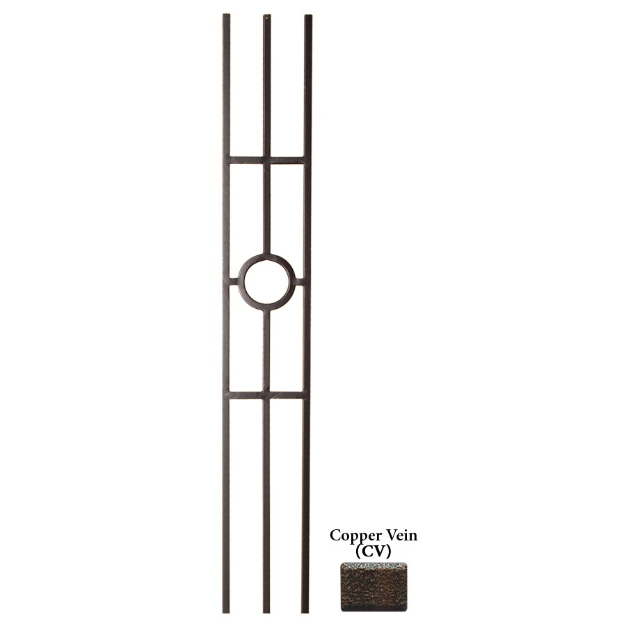 House of Forgings Solid 44-in Copper Vein Wrought Iron Versatile Stair Baluster