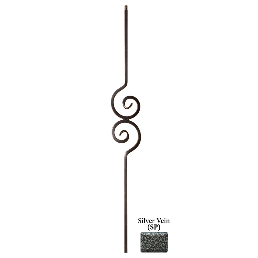 House of Forgings Solid 44-in Silver Vein Wrought Iron Versatile Stair Baluster