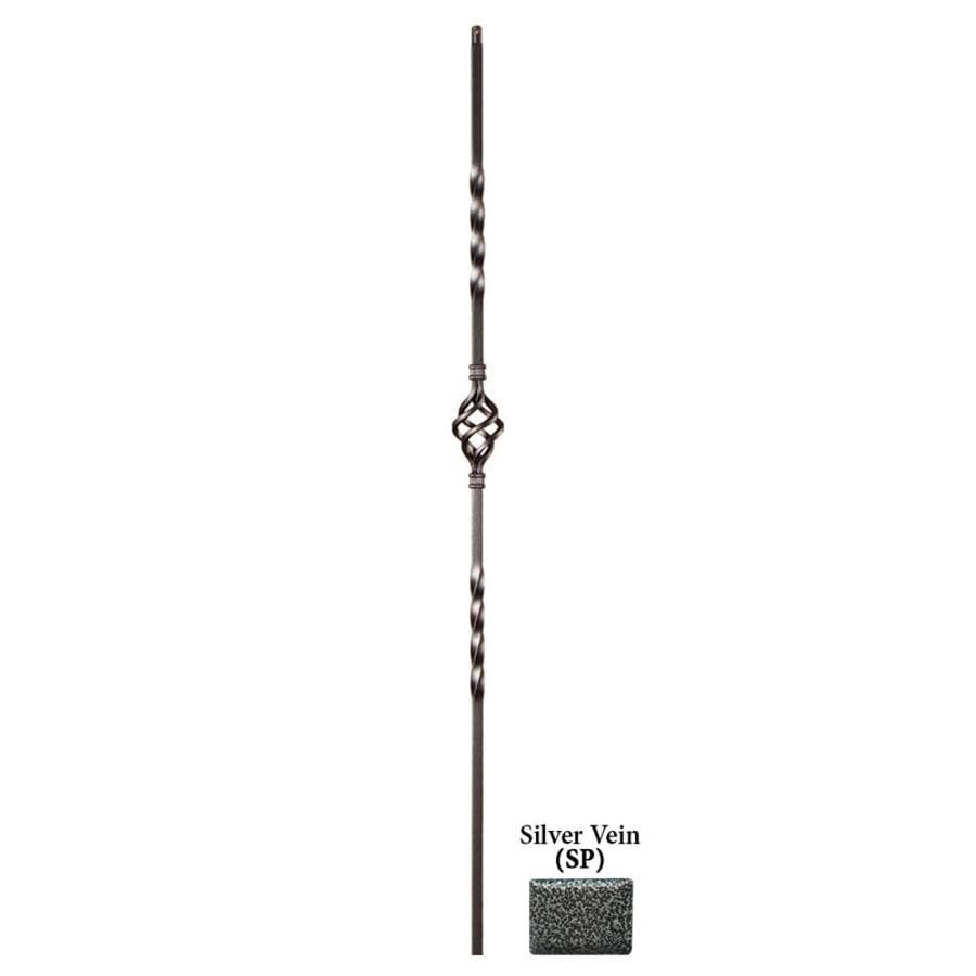 House of Forgings Solid 44-in Silver Vein Wrought Iron Twist Stair Baluster