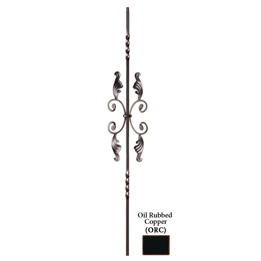 House of Forgings Solid 44-in Oil Rubbed Copper Wrought Iron Twist Stair Baluster