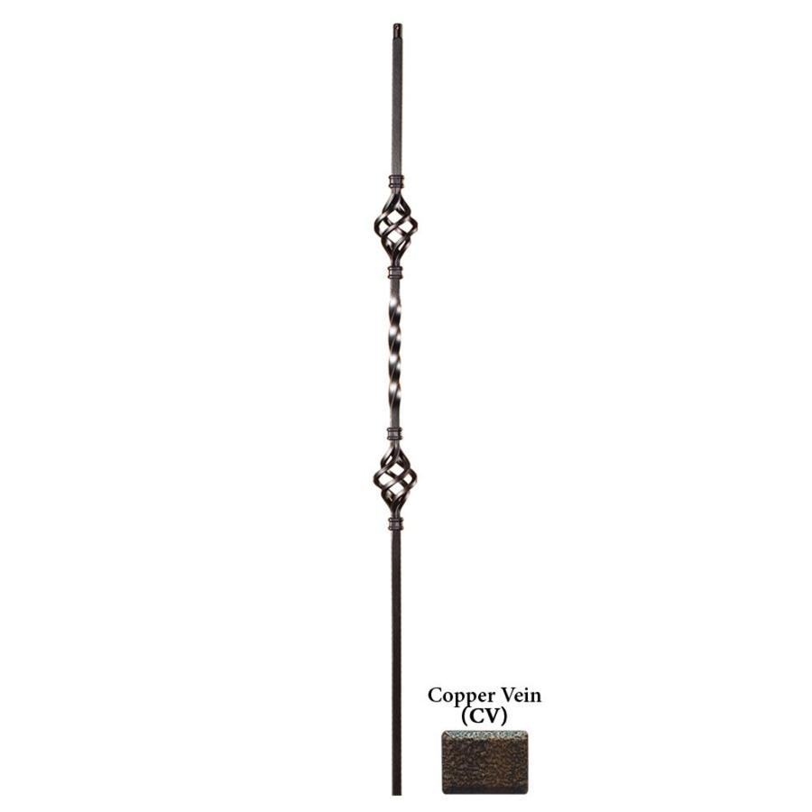 House of Forgings Hollow 44-in Copper Vein Wrought Iron Twist Stair Baluster