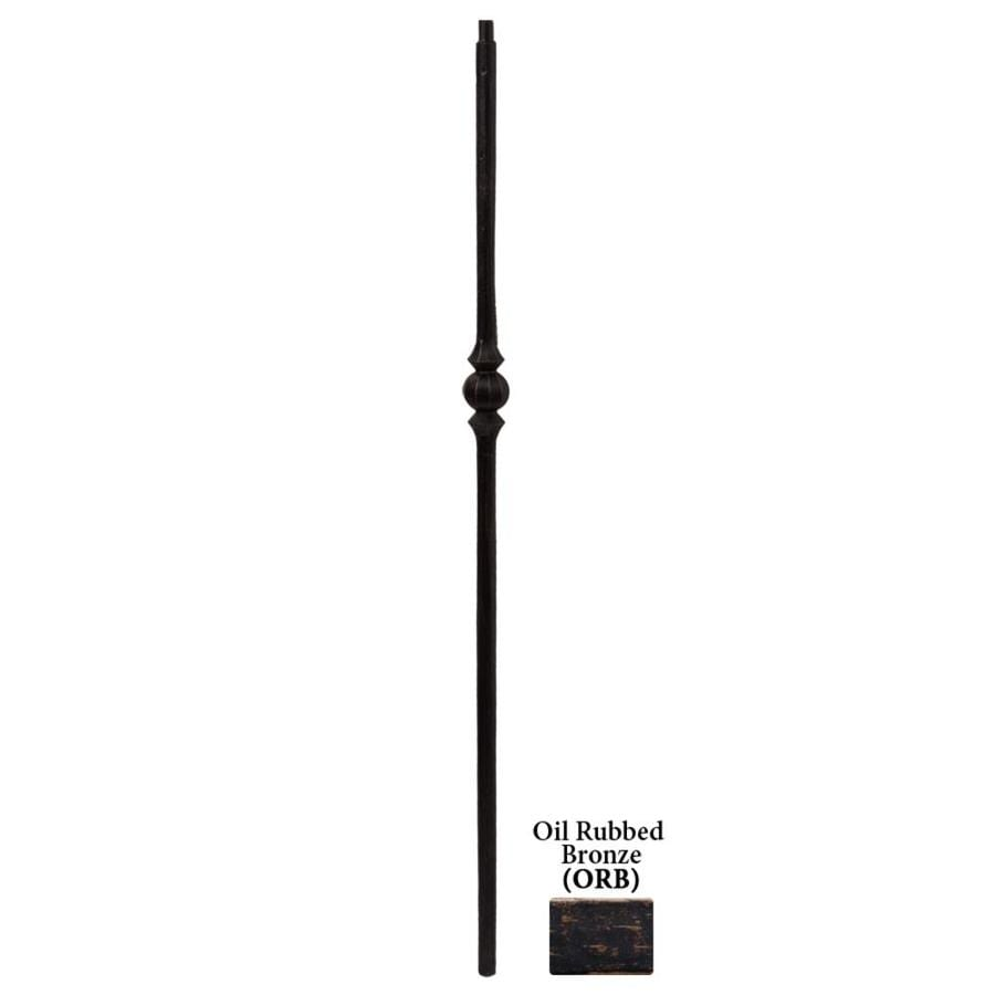House of Forgings Tuscan Round Forged 1-in x 47-in Oil Rubbed Bronze Painted Wrought Iron Stair Newel Post