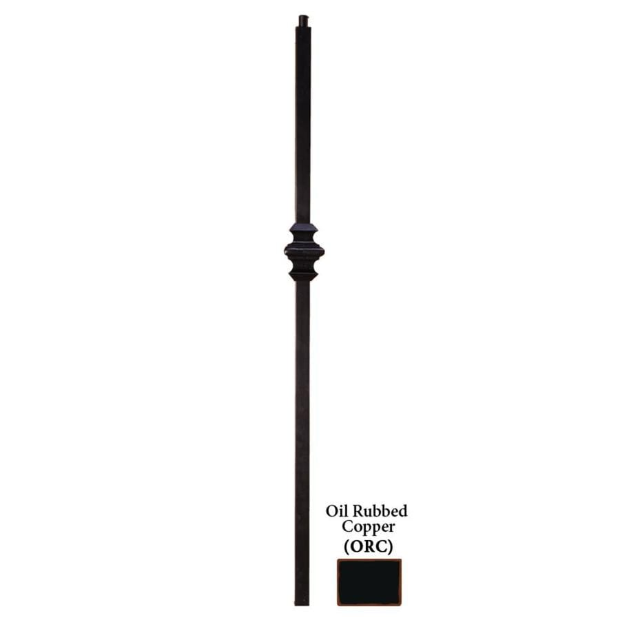 House of Forgings Versatile Series 1.187-in x 47-in Oil Rubbed Copper Painted Wrought Iron Stair Newel Post
