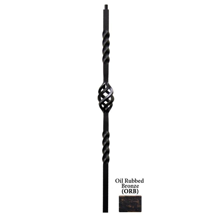 House of Forgings Twist Series 1.187-in x 47-in Oil Rubbed Bronze Painted Wrought Iron Stair Newel Post