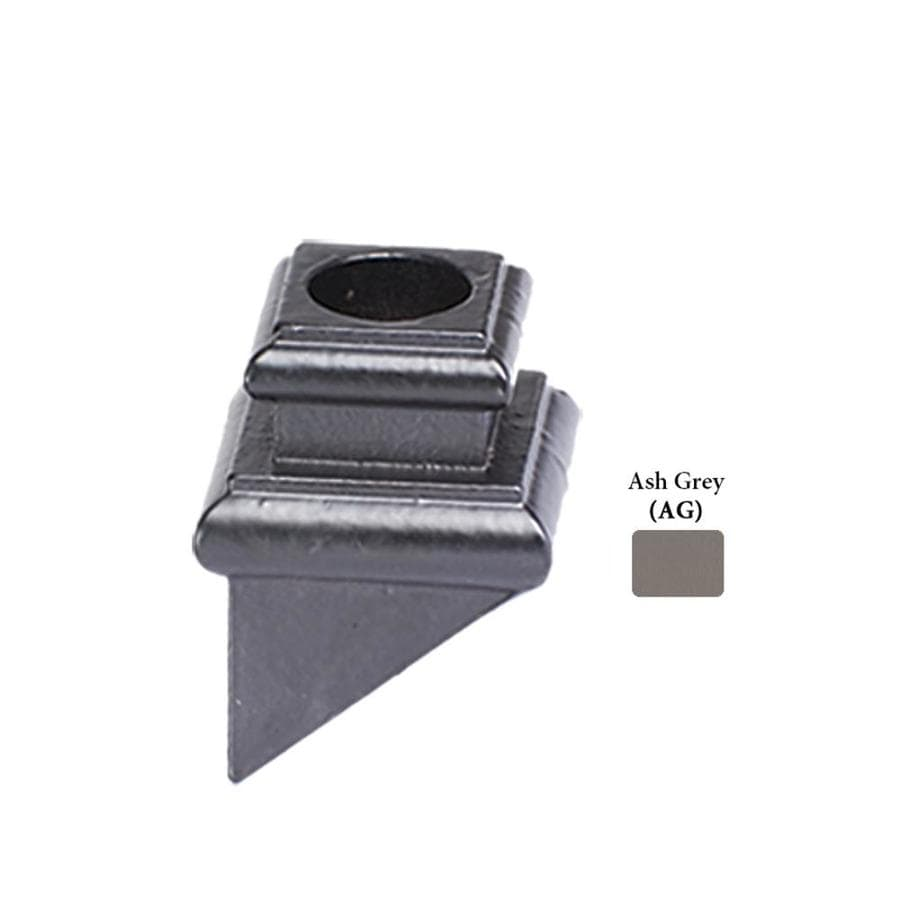 House of Forgings Square Ash Grey Cast Iron Baluster Shoe