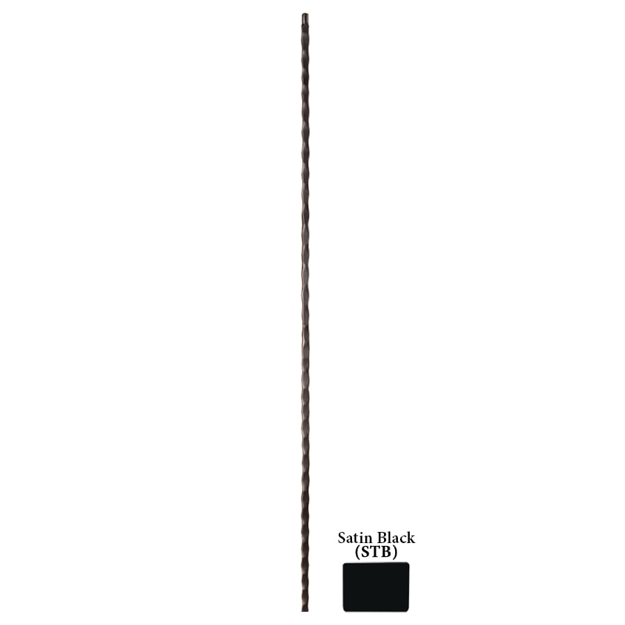 House of Forgings Hollow 44-in Satin Black Wrought Iron Tuscan Stair Baluster