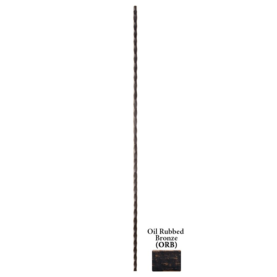 House of Forgings Hollow 44-in Oil Rubbed Bronze Wrought Iron Tuscan Stair Baluster
