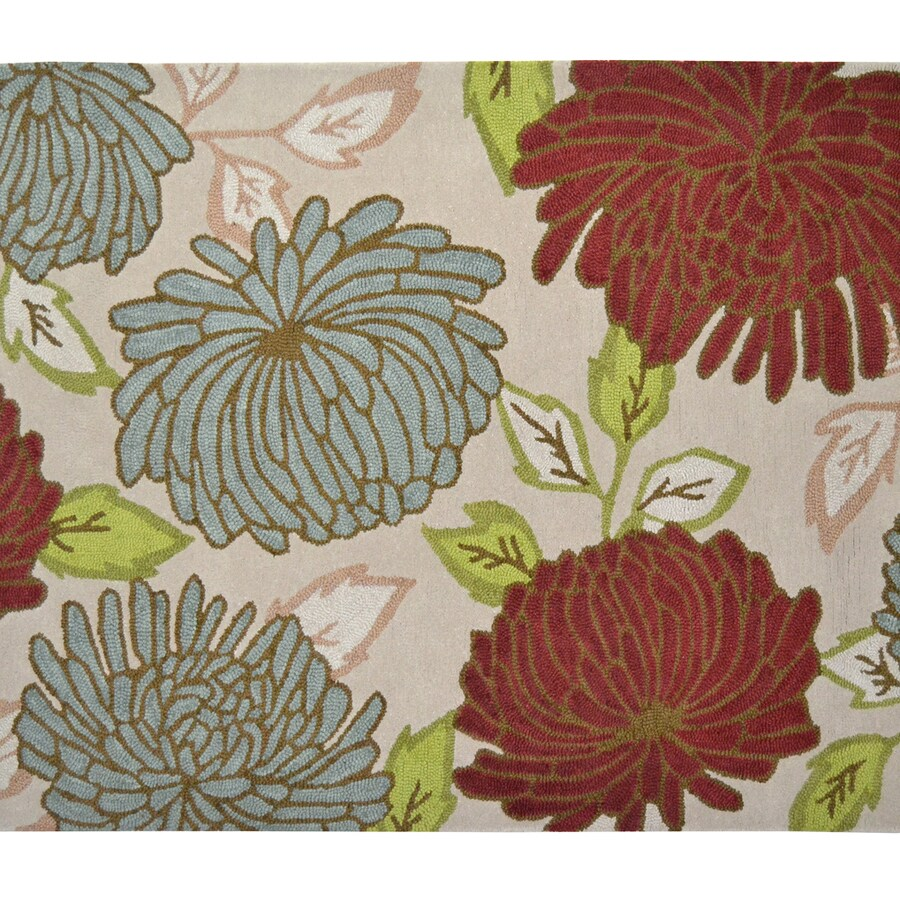 allen + roth Willowton Multicolor/Normal Rectangular Indoor Tufted Area Rug (Common: 5 x 8; Actual: 60-in W x 96-in L)