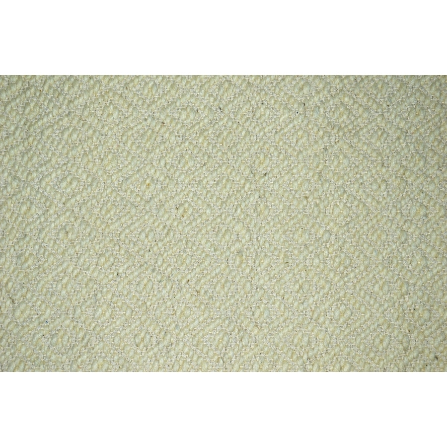 allen + roth Cream and Normal Rectangular Indoor Woven Throw Rug (Common: 2 x 4; Actual: 27-in W x 45-in L)