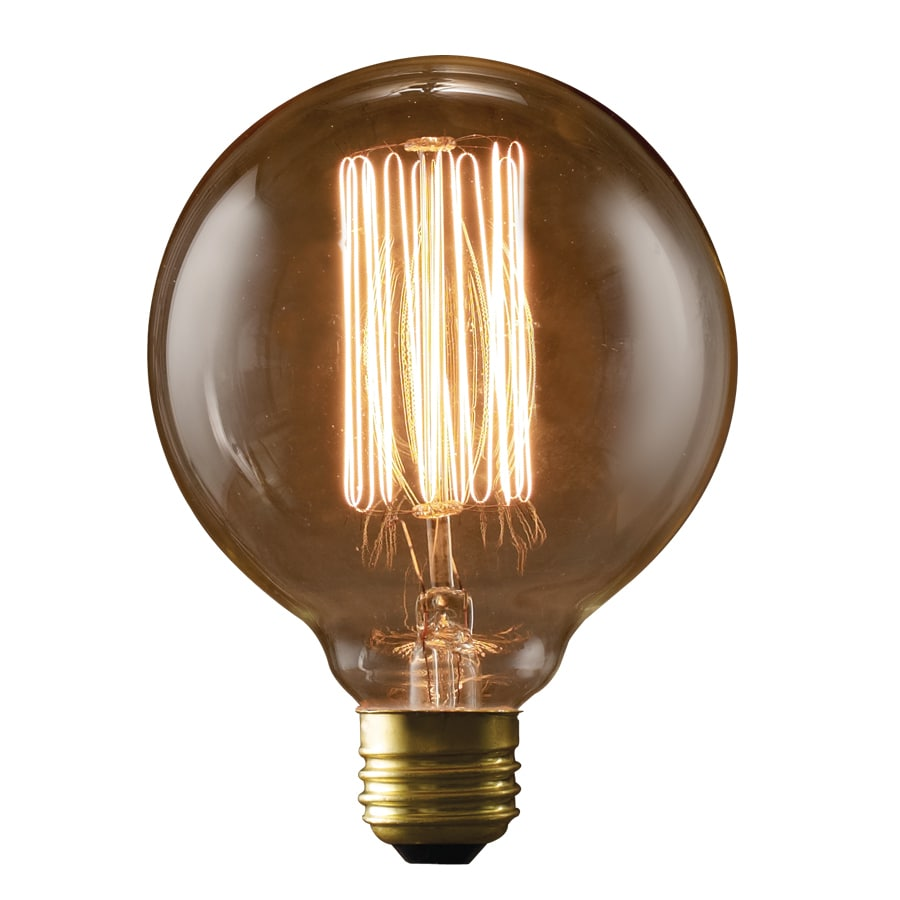 fashion Lighting Vintage 40-Watt Medium Base (E-26) Warm White Dimmable Decorative Incandescent Light Bulb