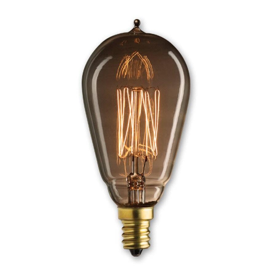 fashion Lighting Mini Richmond 25-Watt Candelabra Base (E-12) Amber Dimmable Decorative Incandescent Light Bulb