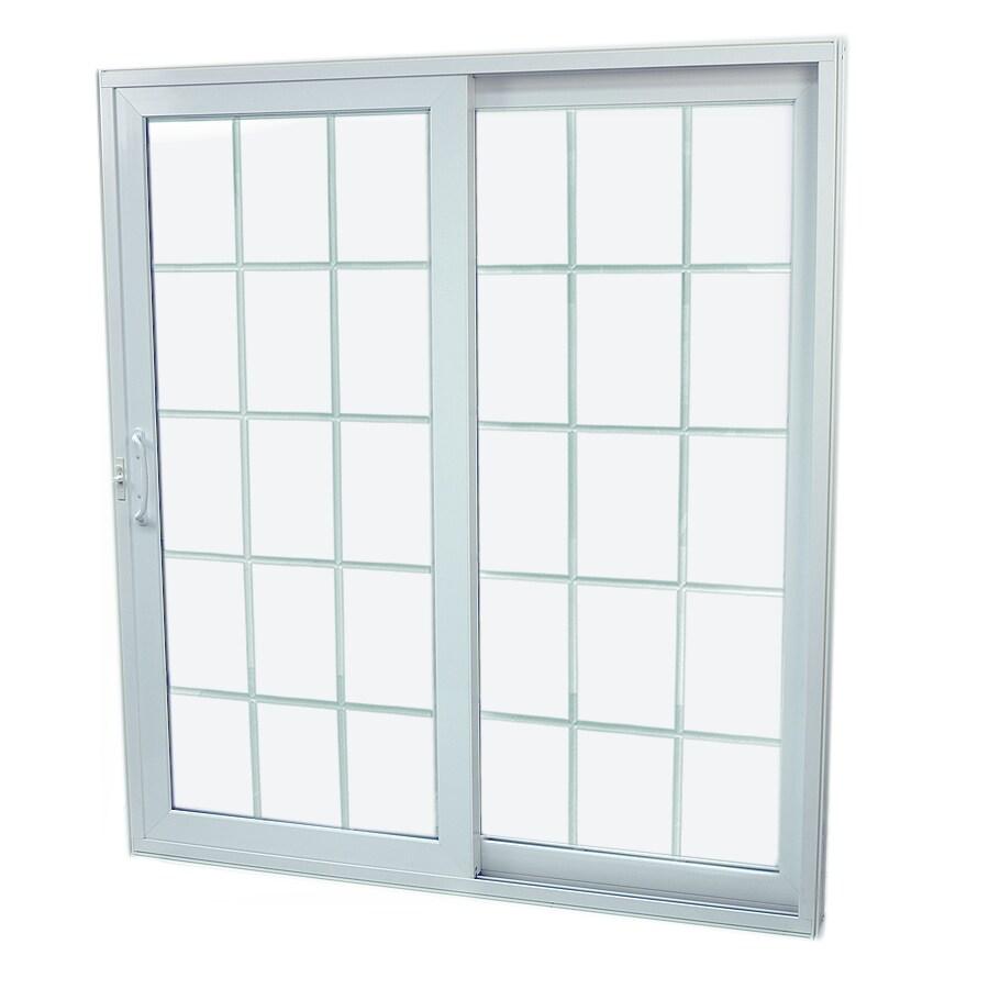 SecuraSeal 59-in Low-E Argon Grilles Between Glass Composite Sliding  Patio Door