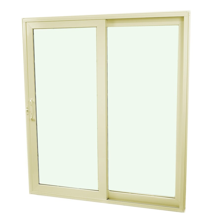 SecuraSeal 71-in Low-E Argon Clear Composite Sliding  Patio Door