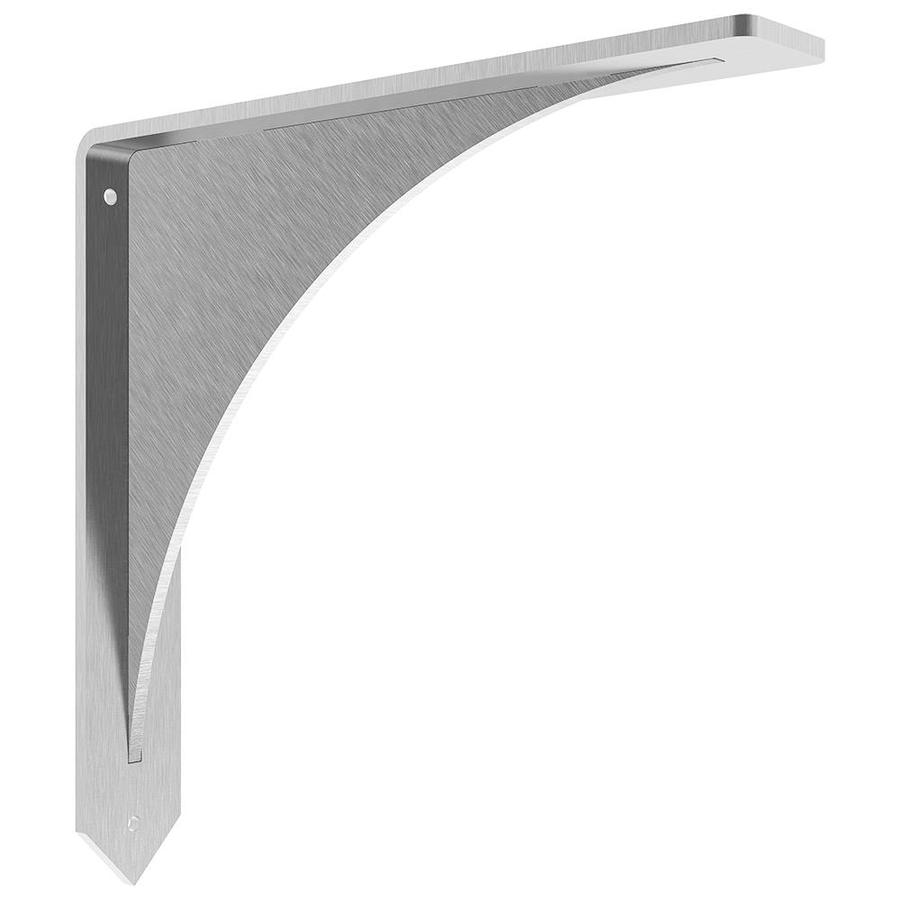 Federal Brace Arrowwood 8-in x 2-in x 8-in Stainless Steel Countertop Support Bracket