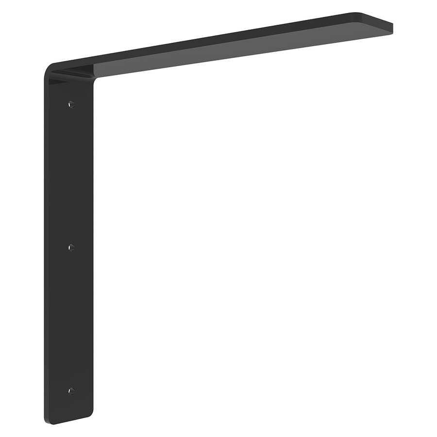 Federal Brace Freedom 8-in x 2-in x 8-in Black Countertop Support Bracket
