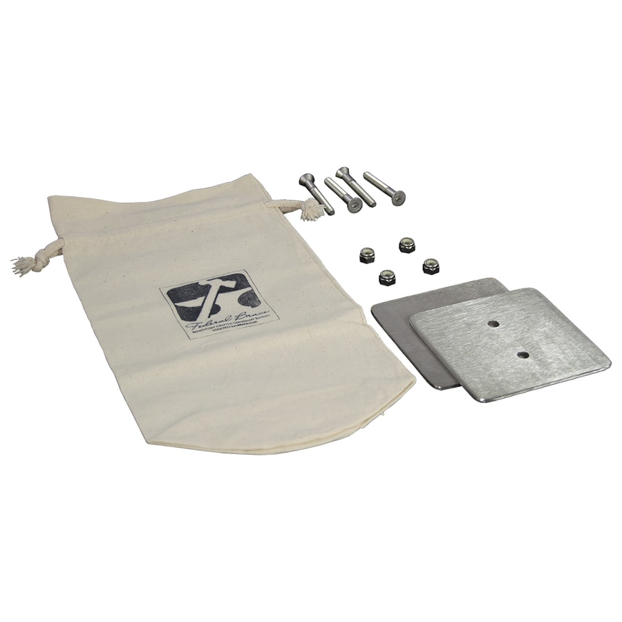 Federal Brace Counter Mount 2-in x 6-in x 10-in Stainless Steel Fastener Kit